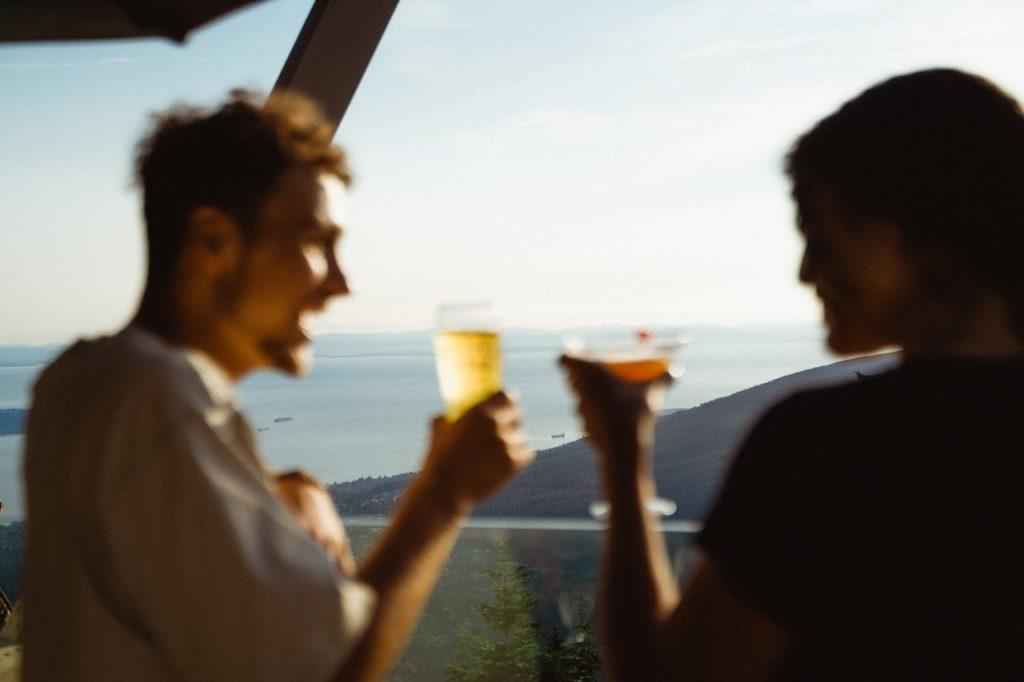 Cheers at altitudes bistro